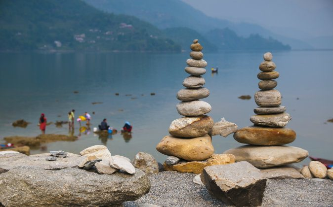 Phewa Lake in Pokhara in Nepal via Shutterstock*