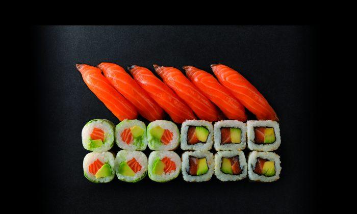 Salmon Lovers sushi box. (Courtesy of Sushi Shop)