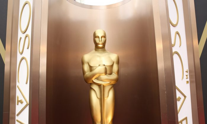 An Oscar statue appears at the Oscars at the Dolby Theatre in Los Angeles, Calif., on March 2, 2014. (Matt Sayles/Invision/AP)