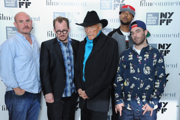 Ivan Pavlovich, Woody Jackson, Edgar Froese, Oh No and The Alchemist attend the The Music of Grand Theft Auto V Panel at Elinor Bunin Munroe Film Center on October 1, 2013 in New York City.  (Photo by Ilya S. Savenok/Getty Images)