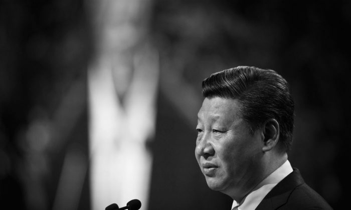 Chinese Communist Party head Xi Jinping speaks in Auckland, New Zealand, on Nov. 21, 2014. (Greg Bowker/Getty Images)