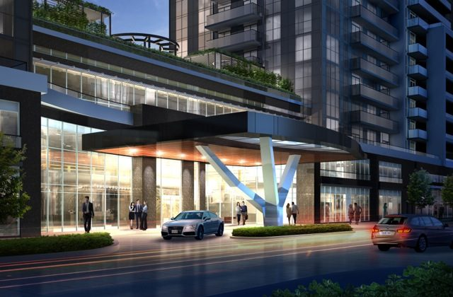 Porte Cochere at 5959 Yonge. (Ghods Builders)