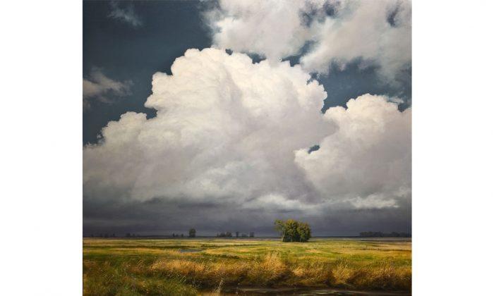"""""""Valley Thunderhead,"""" 2014, 48 inches by 48 inches, by Renato Muccillo, oil on canvas. (Courtesy of Renato Muccillo)"""