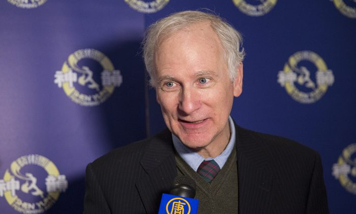 John Parker, a former city councillor and MPP, said Shen Yun carries a message of hope. (Evan Ning/Epoch Times)