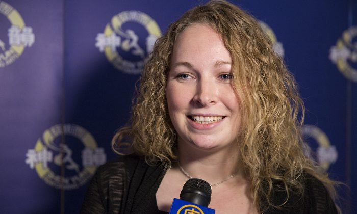 Brittney Brewer identified with the theme of compassion and kindness that shone through in Shen Yun at the Sony Centre in Toronto on Jan. 24, 2015. (Evan Ning)