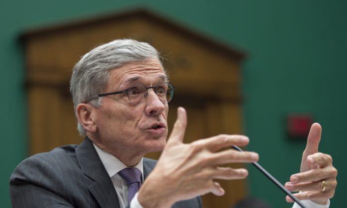 ederal Communications Commission (FCC) Chairman Tom Wheeler testifies before the Communications and Technology Subcommittee on Capitol Hill in Washington, DC, May 20, 2014. (JIM WATSON/AFP/Getty Images)