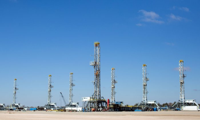 As rig counts drop in the Permian Basin Oil drilling rigs idle in Helmerich & Payne International Drilling Company's yard in Odessa, Texas, Jan. 15. (AP Photo/Odessa American, Courtney Sacco)