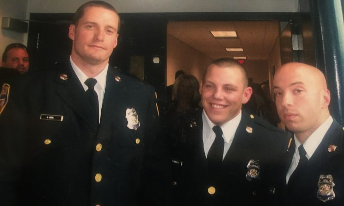 Former Baltimore police officer Joseph (Joe) Crystal (R) with his fellow colleagues at his police academy graduation ceremony in 2009. (Courtesy of Joseph Crystal)
