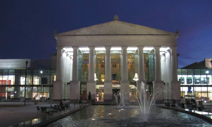 Raleigh Memorial Auditorium at Duke Energy Center for the Performing Arts, where Shen Yun will be holding performances on Jan. 27-28, 2015. (Epoch Times)