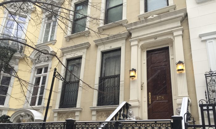 The five-story townhouse at 178 E. 64th St. in New York, on Jan. 26. The location  will be the new location of the Dahesh Museum of Art. (Christine Lin/Epoch Times)
