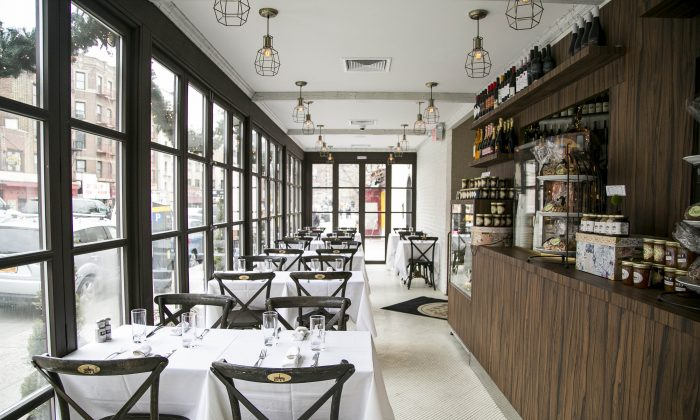 Duet Brasserie, in the West Village. (Samira Bouaou/Epoch Times)
