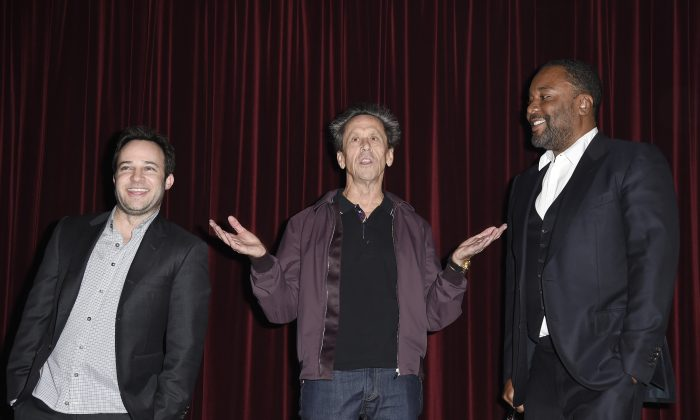 """(L-R) Executive producers Danny Strong, Brian Grazer, and Lee Daniels of the new television drama series """"Empire"""" in West Hollywood, Calif.. on November 3, 2014. (Kevork Djansezian/Getty Images)"""