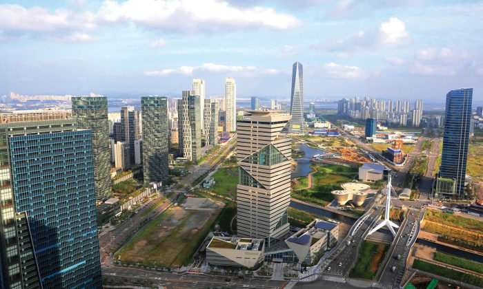 The central area of Songdo International Business District in Incheon, South Korea. (IFEZ)