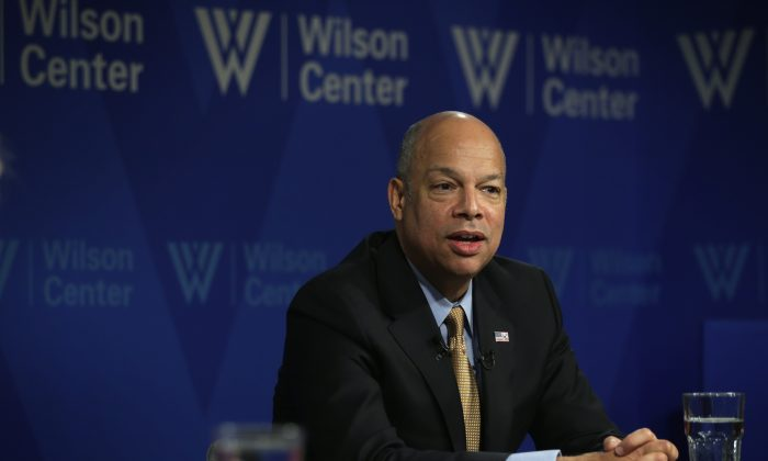 U.S. Homeland Security Secretary Jeh Johnson participates in a discussion at The Woodrow Wilson Center January 29, 2015 in Washington, DC. (Alex Wong/Getty Images)