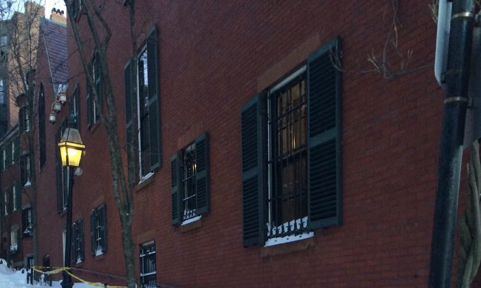 The snowy walkway at 19 Louisburg Sq. in Boston, where John Kerry Lives. (mayors24.cityofboston.gov)