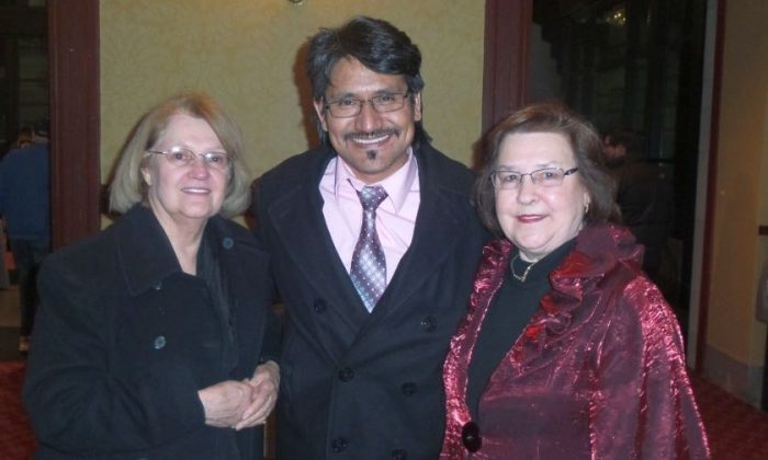 (L-R) Yvonne Pagan, Alex Murillo, and Jeanette Serens at the Duke Energy Center for the Performing Arts in Raleigh on Jan. 28, 2015 after watching Shen Yun Performing Arts. (Epoch Times)