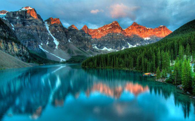 Moraine lake in Banff National park via Shutterstock*
