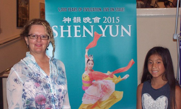 Jane Feather and her daughter were delighted to be at Shen Yun Performing Arts at The Arts Centre Gold Coast, on Jan. 31, 2015. (Laurel Andress/Epoch Times)