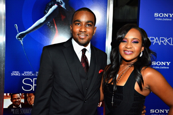 "Bobbi Kristina Brown (R) and Nick Gordon arrive at Tri-Star Pictures' ""Sparkle"" premiere at Grauman's Chinese Theatre on August 16, 2012 in Hollywood, California.  (Photo by Frazer Harrison/Getty Images)"