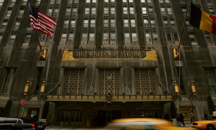 The Waldorf-Astoria hotel is shown January 17, 2005 in New York City. (Spencer Platt/Getty Images)