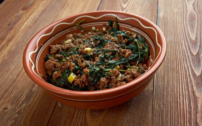 Palaver sauce - stew widely eaten in West Africa via Shutterstock*
