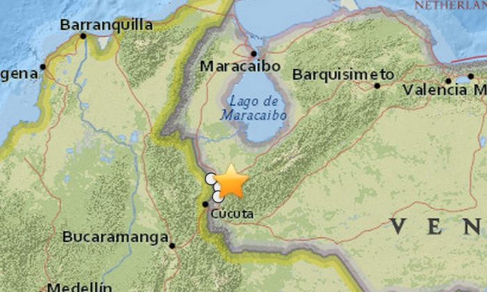 An earthquake (temblor) struck Venezuela on Wednesday night near Colombia. (USGS)