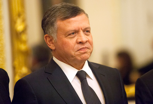 King Abdullah II of Jordan poses for a photo before meeting with members of the U.S. Foreign Relations Committee February 3, 2015. (Allison Shelley/Getty Images)