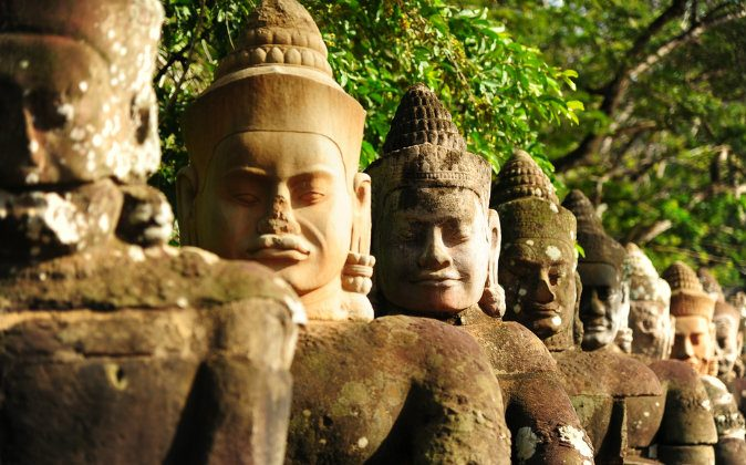 Giants in Front Gate of Angkor Thom, Cambodia. (Shutterstock)