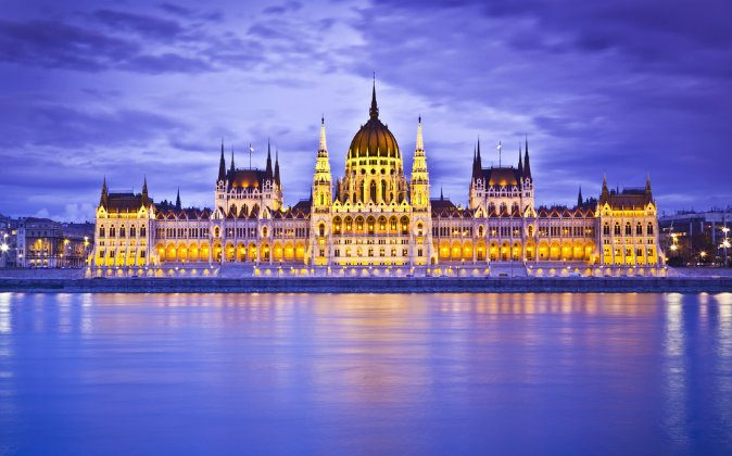 Parliament, Budapest, Hungary at night via Shutterstock*