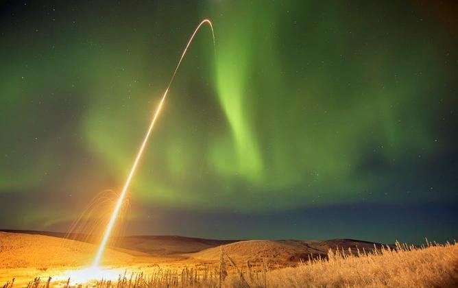 Time exposed photo of the Auroral Spatial Structures Probe Launch into the aurora. (Merrick Peirce , CC BY-ND)