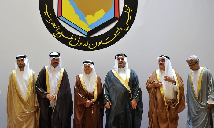 GCC Oil and Energy Ministers in the Saudi capital of Riyadh on Sept. 24, 2013.  (Fayez Nureldine/AFP/Getty Images)