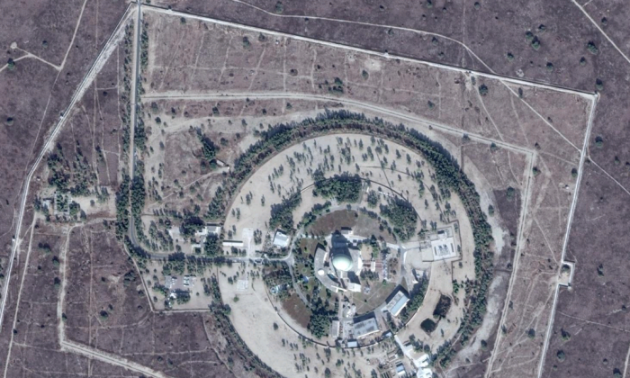 Image of Pakistan's Khushab nuclear site located in Khushab District, Punjab, showing the heavy water reactor. On Feb. 7, a Chinese official confirmed at a press conference in Beijing that China's state-run nuclear industry is cooperating with Pakistan to build at least six nuclear power stations. (Google Maps)