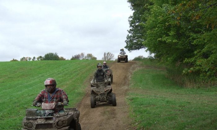Agri-tourism has been a way for ailing small farms to bring in extra revenue, and for people to get a better idea of how food is actually produced, while having fun. (Courtesy of Tall Pines ATV Park, Andover, N.Y.)