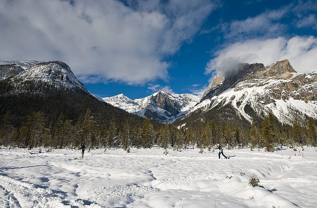 Skiing at Emerald Lake in Yoho National Park (Flicker.com)
