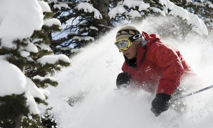 Danny Bennett  skiing powder in Jupiter Bowl at Park City Mountain Resort. (Park City Mountain Resort)