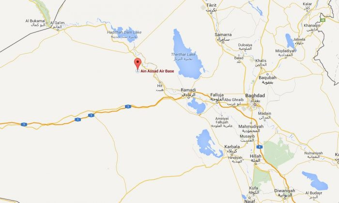 The city of al-Baghdadi in Iraq was taken by ISIS militants on Thursday, a mere few miles from a Marines base.