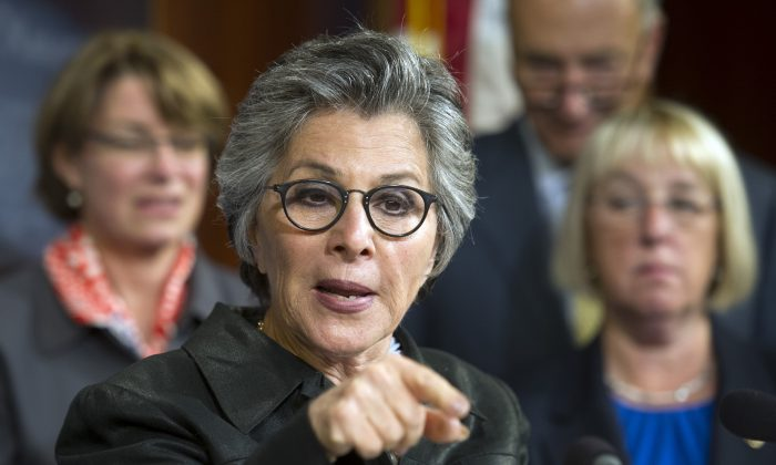 Sen. Barbara Boxer, D-Calif. on Capitol Hill in Washington, D.C., on Sept. 10, 2014. (AP Photo/Cliff Owen)