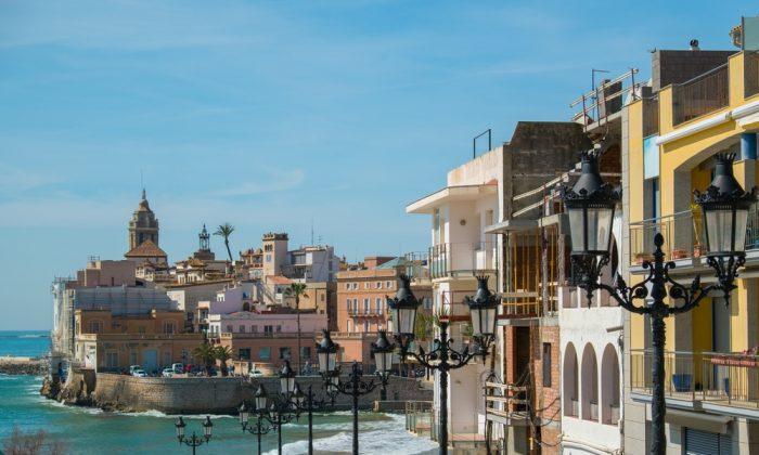Beautiful town of Sitges, Spain via Shutterstock*