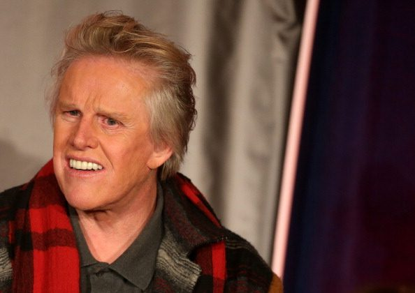 """Actor Gary Busey speaks onstage at the """"All Star Celebrity Apprentice"""" breakfast session during the NBCUniversal portion of the 2013 Winter TCA Tour- Day 3 at the Langham Hotel on January 6, 2013 in Pasadena, California.  (Photo by Frederick M. Brown/Getty Images)"""