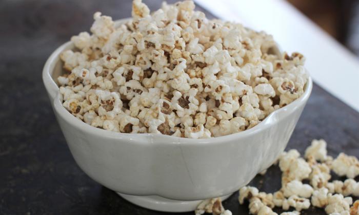 Salty-Sweet Peanut Honey Popcorn. (AP Photo/Matthew Mead)