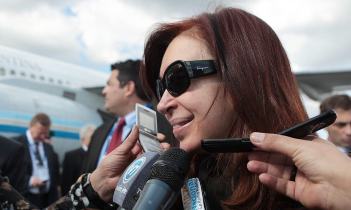 Argentine President Cristina Fernandez de Kirchner in St. Petersburg, Russia, on Sept. 4, 2013. Kirchner allegedly helped cover up a July 1994 terrorist attack in Buenos Aires. (Igor Russak/RIA Novosti via Getty Images)