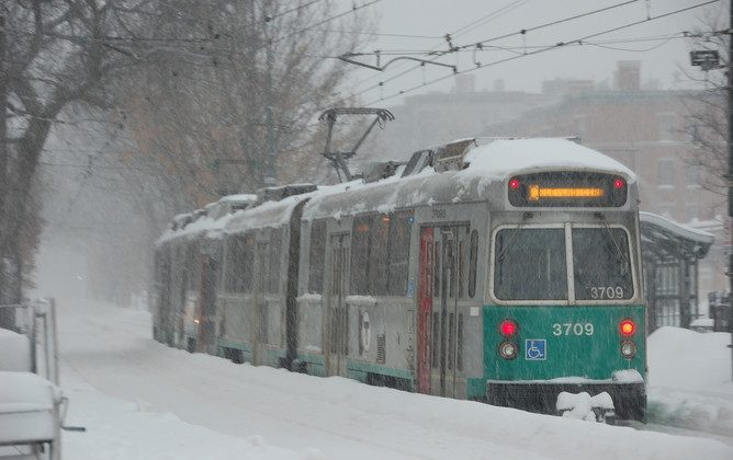 The Boston-area transit authority has had major disruptions and shut-downs this winter. (MaxVT/Flickr, CC BY-SA)