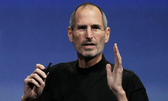 Apple CEO Steve Jobs speaks during an Apple special event April 8, 2010 in Cupertino, California. Jobs almost replaced Jony Ives, Apple's lead designer, in 1997. (Justin Sullivan/Getty Images)