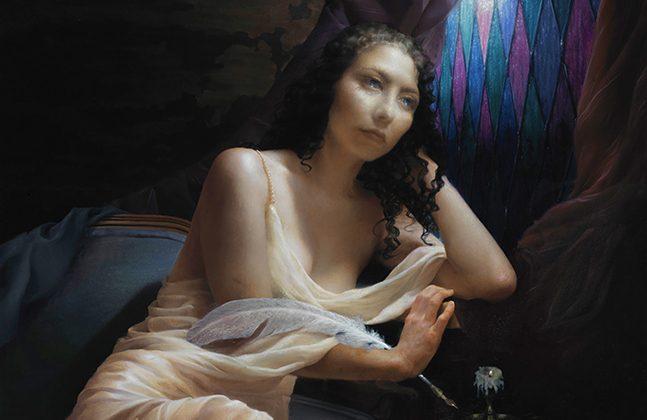 """Au Clair de la Lune,"" 2013, by Camie Salaz, 38 inches x 46 inches, oil on canvas. (Courtesy of Camie Salaz)"