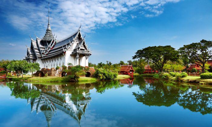 Sanphet Prasat Palace, Ancient City, Bangkok, Thailand via Shutterstock*