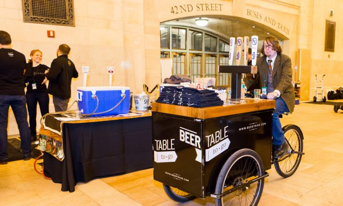 An event at last year's NYC Beer Week, in Vanderbilt Hall at Grand Central. (Courtesy of NYC Beer Week)