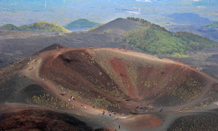 Etna volcano craters in Sicily, Italy via Shutterstock*