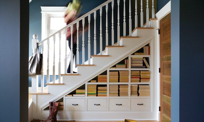 Installing shelves and drawers under a staircase is genius. (Lori Andrews)