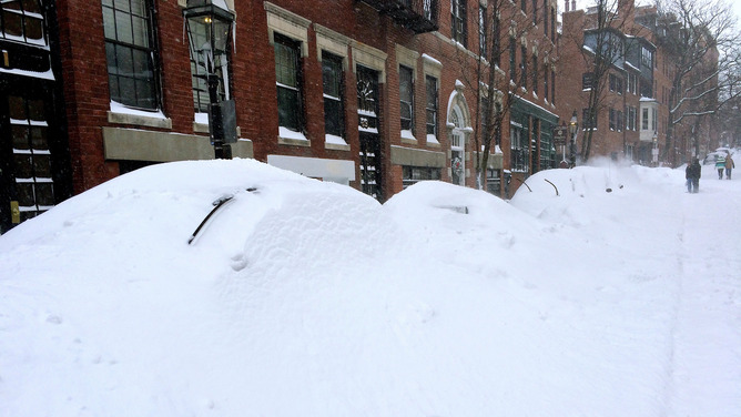 Welcome to Boston—and two feet of snow from one storm. (Peter Eimon/Flickr, CC BY-SA)