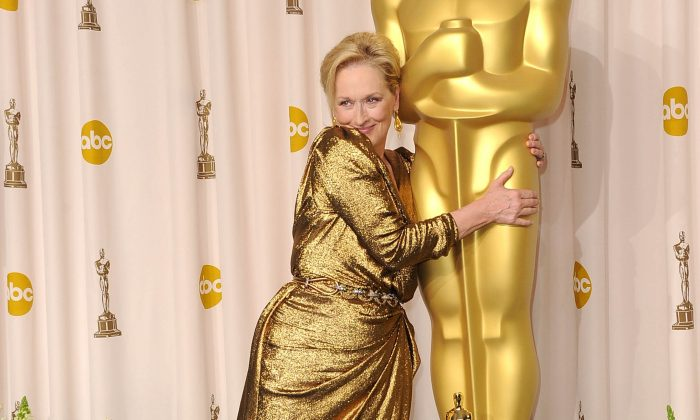 Actress Meryl Streep, winner of the Best Actress Award for 'The Iron Lady,' poses in the press room at the 84th Annual Academy Awards held at the Hollywood & Highland Center on February 26, 2012 in Hollywood, California. (Photo by Jason Merritt/Getty Images)